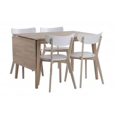 Valgomojo stalas Filippa su atlenkiamu prailginimu, 120+45 cm (balinto ąžuolo)