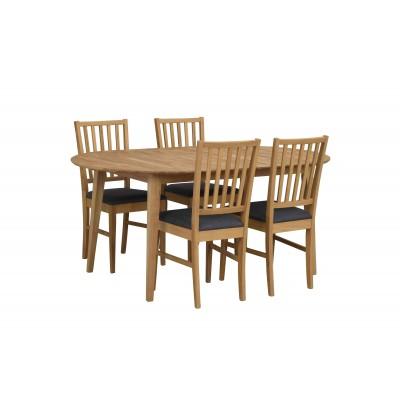 Kėdė Filippa, 2 vnt. (ąžuolo / pilkas audinys)