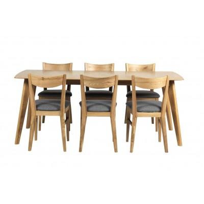 Valgomojo stalas Cirrus, 190/235 cm,  išskleidžiamas (ąžuolo)