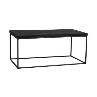 Kavos staliukas Dalton, stačakampis, 120 cm, juodai pilkos metalinės kojelės (juoda)