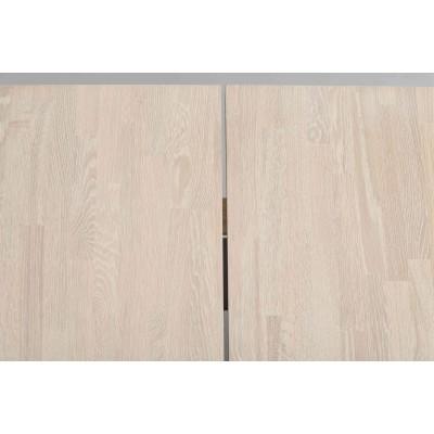 Valgomojo stalas Fred, 240 cm (balkšva / juoda)