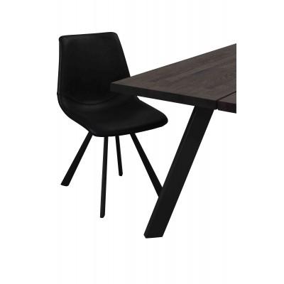 Valgomojo stalas Fred, 240 cm (dūmų spalvos / juoda)