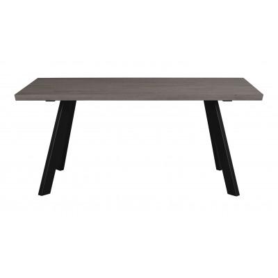 Valgomojo stalas Fred, 170 cm (tamsiai ruda / juoda)