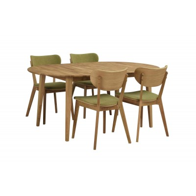 Valgomojo stalas Filippa, ovalus, 170/210 cm, ąžuolas (pridedamas 40 cm įdėklas)