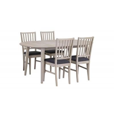 Valgomojo stalas Filippa, ovalus, 170/210 cm, balintas ąžuolas (pridedamas 40 cm įdėklas)