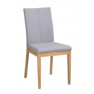 Kėdė Amanda, 2 vnt. (šviesiai pilkas audinys / ąžuolo)