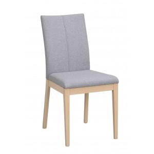 Kėdė Amanda, 2 vnt. (šviesiai pilkas audinys / balkšva)