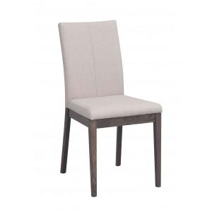 Kėdė Amanda, 2 vnt. (smėlio spalvos audinys / dūmų spalvos)