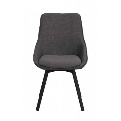 Kėdė Alison, 2 vnt. (pilkas audinys / juodos kojos)