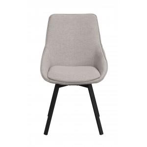 Kėdė Alison, 2 vnt. (smėlio spalvos audinys / juodos kojos)