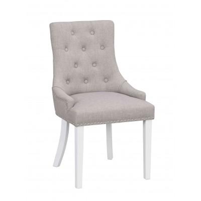 Kėdė Vicky, 2 vnt. (šviesiai pilkas audinys / baltos kojos)