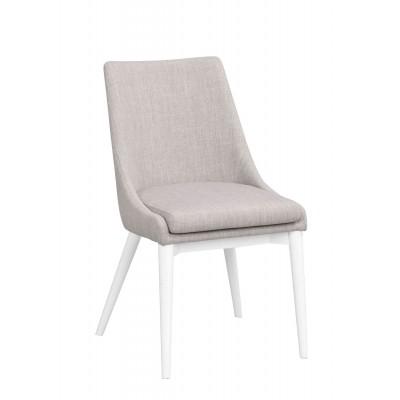 Kėdė Bea, 2 vnt. (šviesiai pilkas audinys / baltos spalvos kojos)