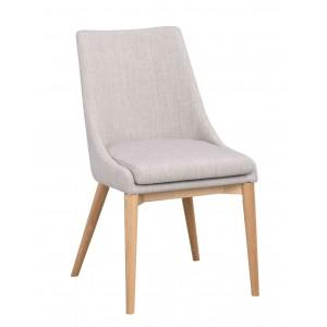 Kėdė Bea, 2 vnt. (šviesiai pilkas audinys / ąžuolo kojos)