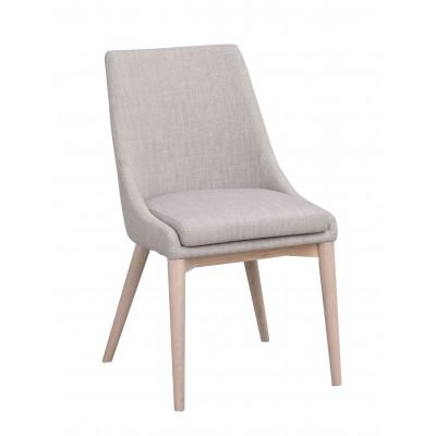 Kėdė Bea, 2 vnt. (šviesiai pilkas audinys / balkšvos spalvos kojos)