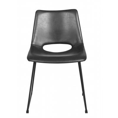 Kėdė Manning, 2 vnt. (juodas PU audinys / juodos kojos)