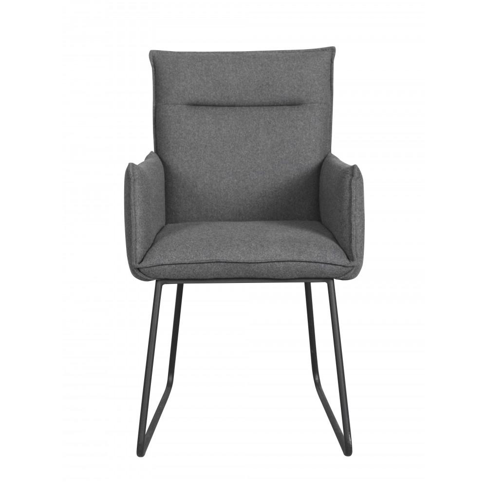 Kėdė Yukon, 2 vnt. (tamsiai pilkas audinys / juodos kojos)