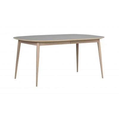 Valgomojo stalas Dawson, ovalus, 160/205 cm (pilka / balinto ąžuolo)