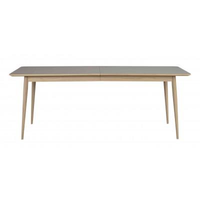 Valgomojo stalas Dawson, 200/245 cm (pilka / balinto ąžuolo)