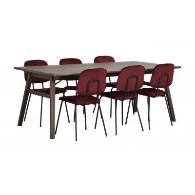 Valgomojo stalas Graham, 200x100 cm (tamsiai rudas ąžuolas)