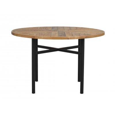 Valgomojo stalas Zanzibar, apvalus (ruda / juoda)
