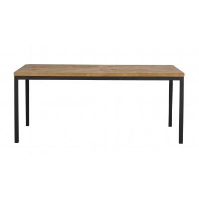 Valgomojo stalas Zanzibar, stačiakampis, 180x100 cm (ruda / juoda)