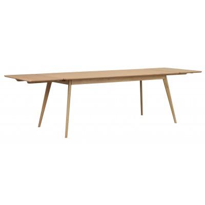 Valgomojo stalas Yumi, stačiakampis, 190x90 cm (lakuotas ąžuolas)