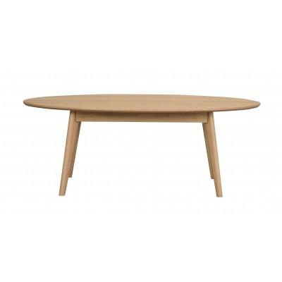Ovalus kavos staliukas Yumi, 130x65 cm (lakuotas ąžuolas)