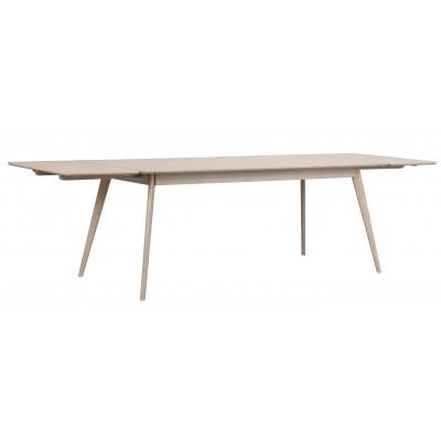 Valgomojo stalas Yumi, stačiakampis, 190x90 cm (balkšva)