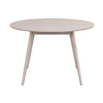 Valgomojo stalas Yumi, apvalus, 115 cm (balkšva)