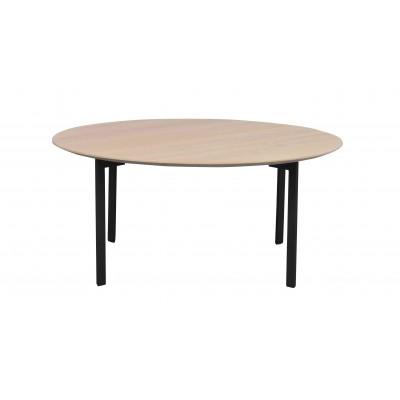 Kavos staliukas  Spencer, 90 cm (balinto ąžuolo / juodas metalas)