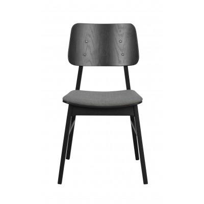 Kėdė Nagano, 2 vnt. (juodos spalvos ąžuolo / tamsiai pilka)