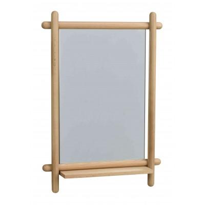 Veidrodis Mirror su lentynėle, 52x74 cm (ąžuolo)