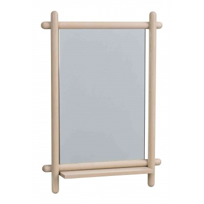 Veidrodis Mirror su lentynėle, 52x74 cm (balinto ąžuolo)