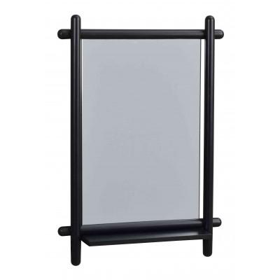 Veidrodis Mirror su lentynėle, 52x74 cm (juodos spalvos ąžuolo)
