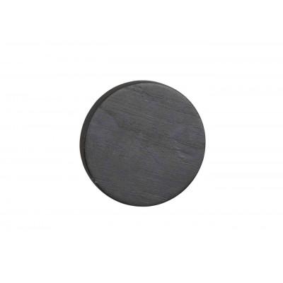 Sieninis drabužių kabliukas Memphis, 8 cm, juodos spalvos ąžuolo, 10 vnt.