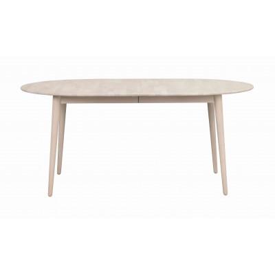 Valgomojo stalas Tyler, ovalus, 170/210 cm, su 40 cm įdėklu (balinto ąžuolo spalvos)