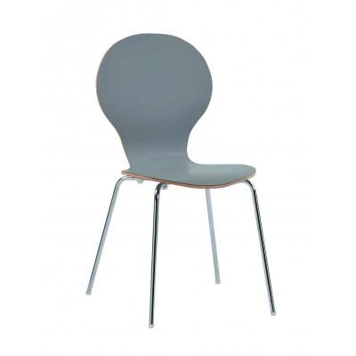 Kėdė Fusion, smėlio spalvos laminatas, chromuotos kojos, 4 vnt.