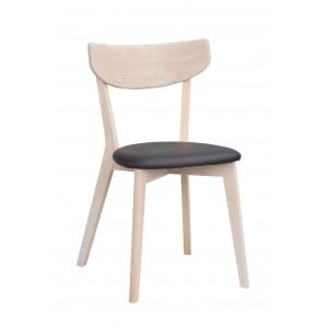 Kėdė Ami, 2 vnt. (ąžuolas / juodo PU sėdimoji dalis)