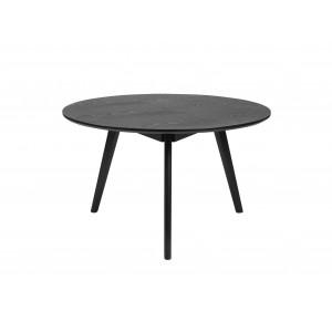 Apvalus kavos staliukas Yumi, 90 cm (juodai beicuotas uosis)
