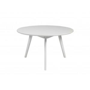Apvalus kavos staliukas Yumi, 90 cm (balta)