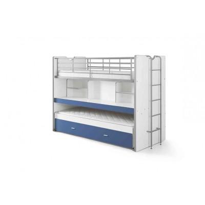 Korpusinė pusaukštė lova Bonny, mėlyna