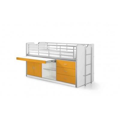 Korpusinė pusaukštė lova Bonny, oranžinė