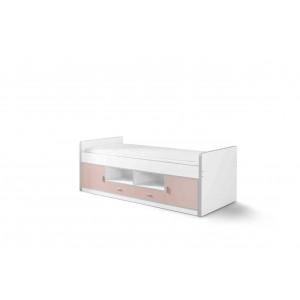 Korpusinė lova Bonny, švelniai rožinė