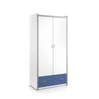 Drabužių spinta Bonny, 2 durų, mėlyna