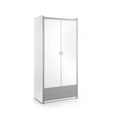 Drabužių spinta Bonny, 2 durų, sidabro