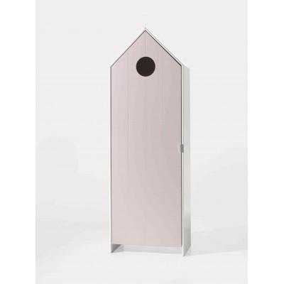 Drabužių spinta Casami, 1 durų, rožinė
