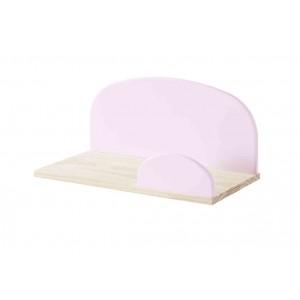Sieninė lentyna Kiddy, 45 cm, sendintos rožinės spalvos
