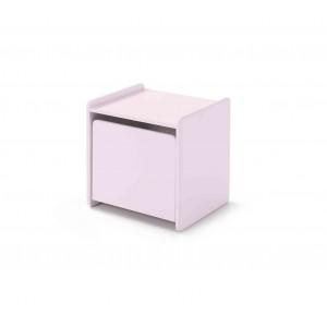 Naktinis staliukas Kiddy, sendintos rožinės spalvos