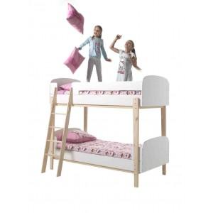 Dviaukštė lova Kiddy, balta