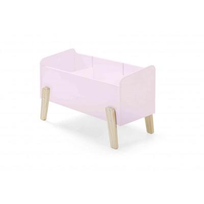 Žaislų dėžė Kiddy, sendintos rožinės spalvos